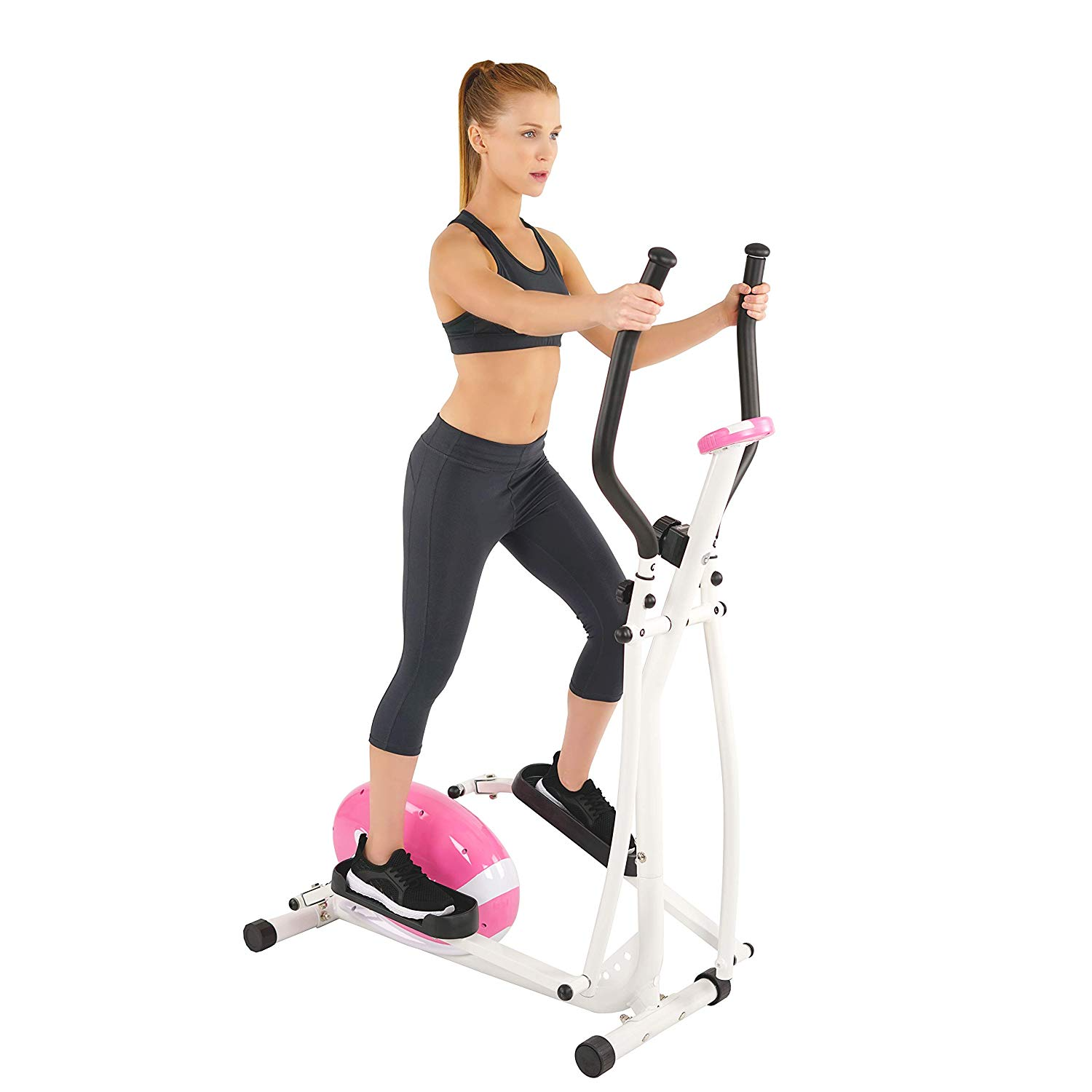 Sunny Health & Fitness P8300 Sunny Health and Fitness Pink Magnetic Elliptical, Pink
