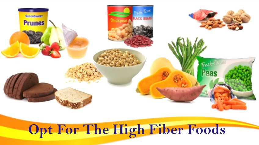Opt for the high fiber foods